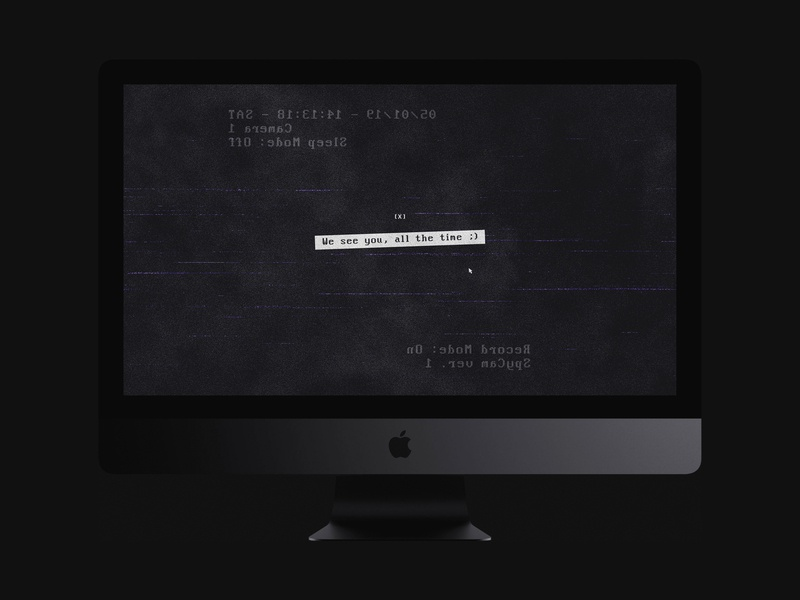We See You, All The Time ;) | Typographical Project technology scary computer parody humour simple online hack surveillance spy