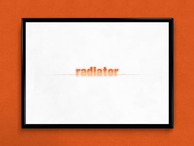 Radiator | Typographical Poster