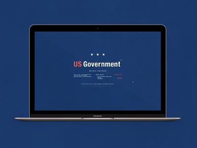 US Government Shutdown   Typography Project typography desktop application simple funny parody retro usa shutdown government