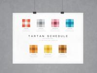 Tartan Schedule | Typographical Poster
