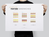 Pantone Sandwiches | Typographical Poster