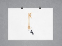 Key | Typographical Poster
