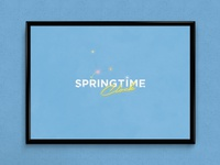 Springtime Clock | Typographical Poster