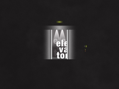 Elevator | Typographical Poster