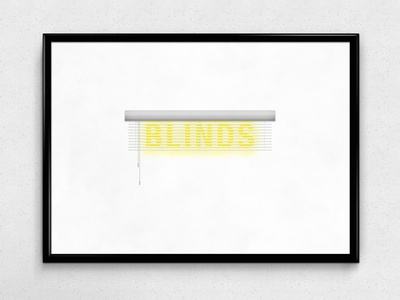 Blinds   Typographical Poster