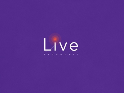 Live Broadcasting   Typographical Poster