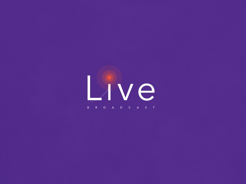 Live Broadcasting | Typographical Poster design narrative typography graphics logotype stream minimal simple broadcast live