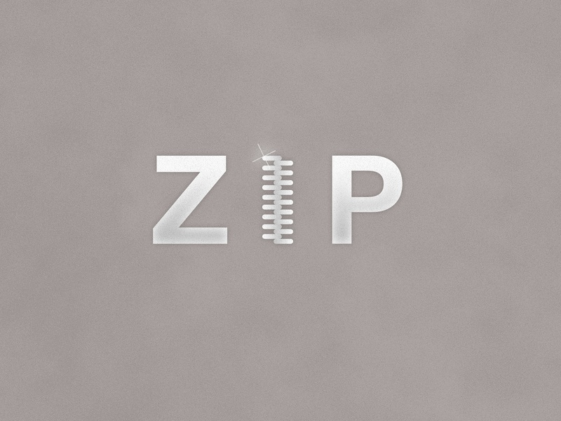 Zip | Typographical Poster narrative literal poster word typography graphics shapes minimal simple zip