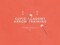 Cupid Arrow Training | Typographical Poster