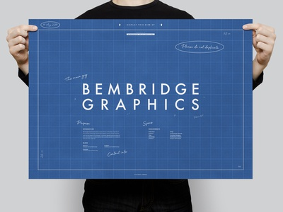 Bembridge Graphics (Blueprints) | Typographical Poster