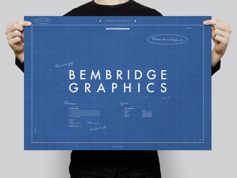 Bembridge Graphics (Blueprints) | Typographical Poster information text identity document blueprints humour minimal graphics simple typography