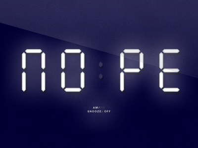 Nope | Digital Clock Parody