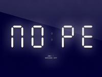 Nope | Digital Clock Parody