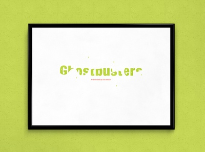 Ghostbusters | Typographical Poster