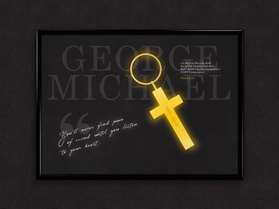 George Michael | Typographical Poster