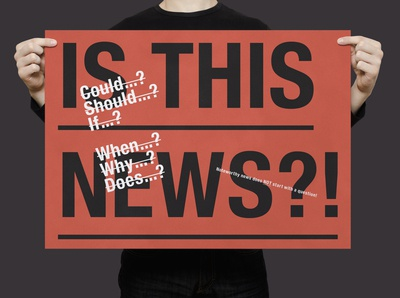 Is This News? | Typographical Poster