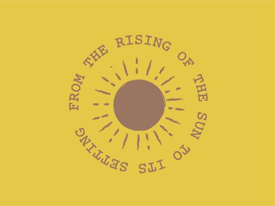 from the rising of the sun to its setting minimal vector icon design illustration