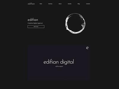 Edifian Website designagency website flat minimal web ux uxdesign uidesign ui  ux ui web design design