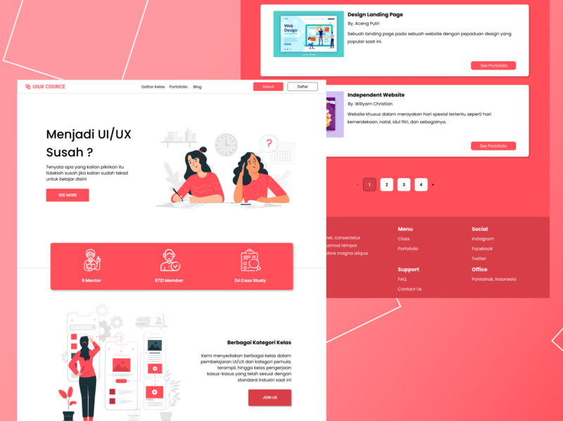 UI UX Education Website minimal ux website typography design web ui