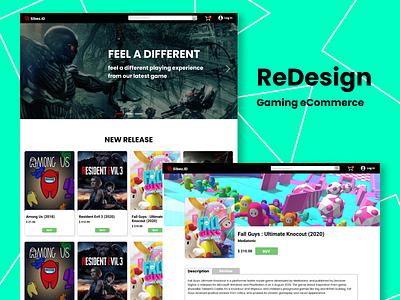 Gaming eCommerce gamingweb redesign webdesign typography website web ui design