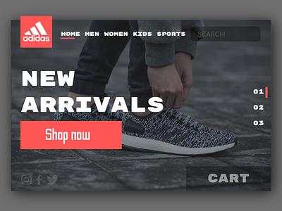 Adidas UI illustration shoes clothing web web design website ui