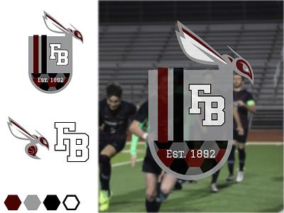 Flour Bluff Soccer Logo Concept 1892 maroon hexagon crest logo hornets soccer
