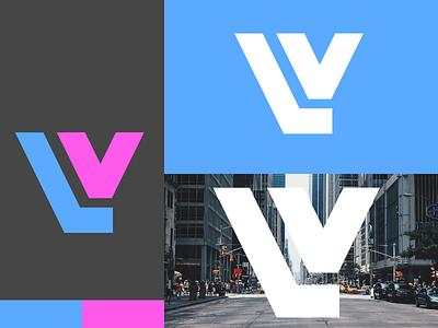 Legacy Ventures Logo⎪Concept 1 branding outline logo outline visual design visual branding concept branding design logo concept company gray grey lv city purple blue branding logo design logo brand logo