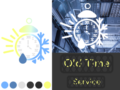 Old Time Service Logo Concept 1