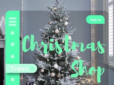 ❄️Simple Christmas UI Concept🎄 white trees tree mint green shop christmas shop holidays holiday christmas tree christmas website interface website uidesign ui concept ui web web concept web design