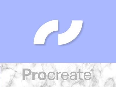 ProCreate Logo Redesign white vector marble blue contest redesign design procreate logo