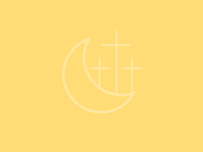 ☾&✝ christ hope pastel plae plain design simple pale yellow cross ✝ ☾