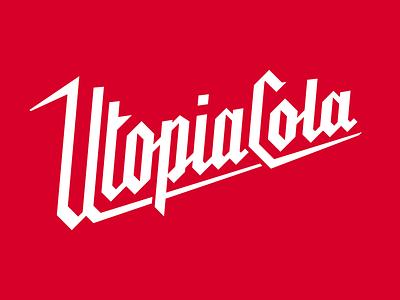 Utopia Cola Comic Masthead italic blackletter masthead comic