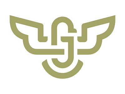 Jack Gregori Logomark western country merica eagle monogram logo