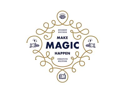 Capital Campaign courier futura typographic icon magic