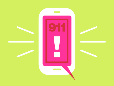 911! overlay multiply cell phone 911