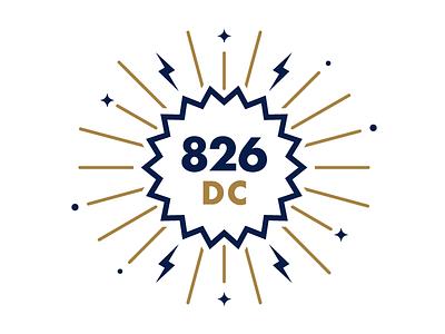 New Organization Logo for 826DC linear sparks lightening dc 826 magic badge burst