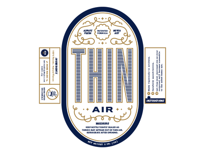 Miss Direction's Thin Air Bottle Label