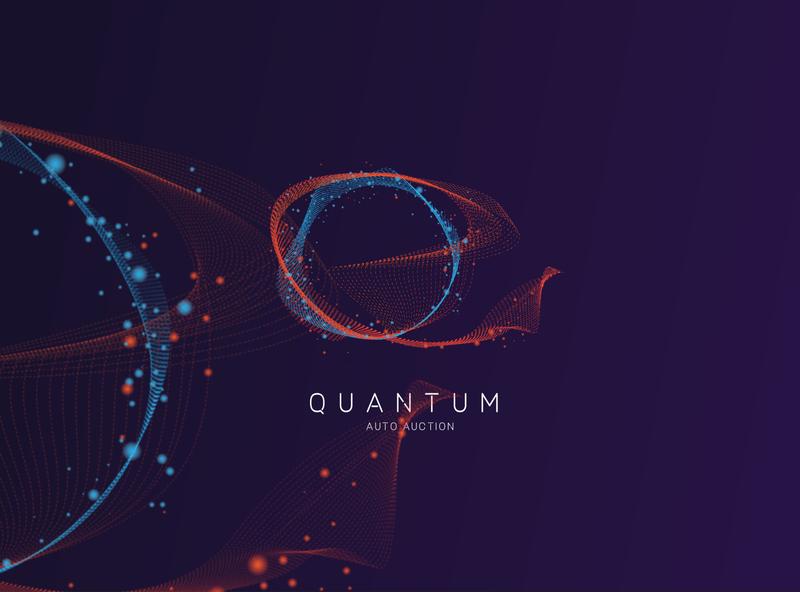Quantum radio wave concept logo quantum mechanics quantum wave logo waveform gradient abstract wave ui lettermarklogo minimalist logo typography illustration vector logo icon flat design