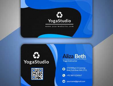 Business card design white web standard simple professional print ready official modern design modern magagine logo landscape green graphic flyer design creative business card blue black