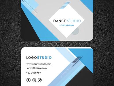 Business card design business card art flat business animation illustrator vector illustration logo design branding