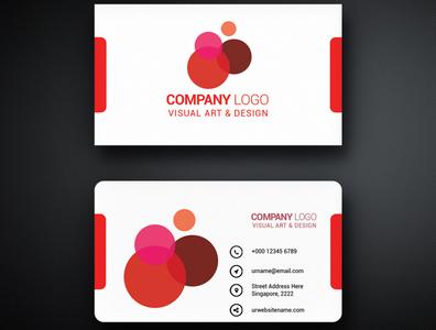 New Business card design business card art animation illustrator vector business illustration logo design branding