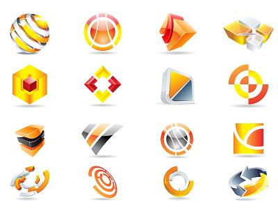3d Logo Design business design background creative icons abstract vector designs logo
