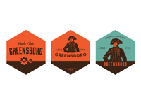 Code for Greensboro logo progression