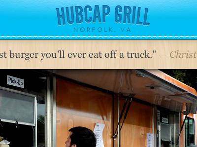 Hubcap grill