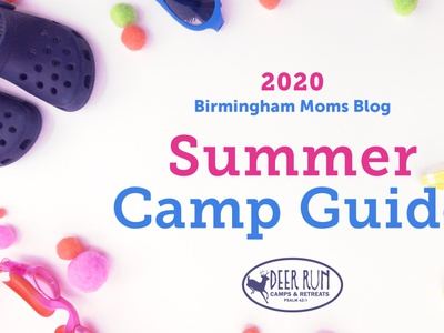 Birmingham Moms Blog Summer Camp Graphic 2020 blog guide goggles crocs summer camp summer