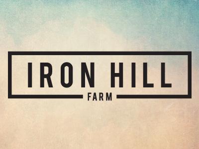 Logo for Iron Hill Farm farm logo black and white iron farms