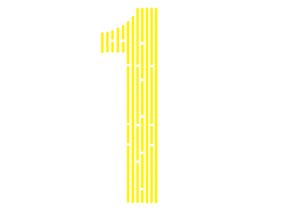 Number 1 :: start of logo 1 logo yellow lines