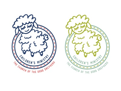 Color Work on Logo for Children's Ministry lamb illustration children childrens ministry ministry church church logos