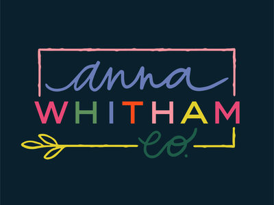 Anna Whitham Co Logo drawn artist logo colorful logo