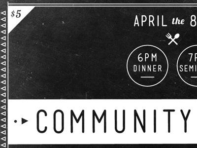 Community Dinner Event dinner church community chalkboard